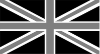 Great Britain Union Jack Flag Black and White Decal / Sticker 04