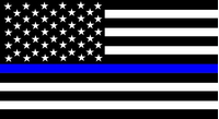 Thin Blue Line American Flag Decal / Sticker 99