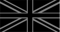Great Britain Union Jack Flag Black and Silver Decal / Sticker 09
