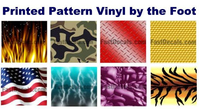 Printed Pattern Vinyl by the Foot (2 foot width)