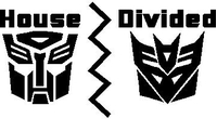 Transformers House Divided Decal / Sticker