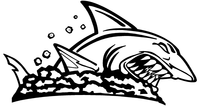 Sharks Mascot Decal / Sticker