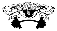 Weight Training Bear Mascot Decal / Sticker 08