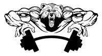 Weight Training Bear Mascot Decal / Sticker 08