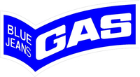 Gas Blue Jeans Decal / Sticker 04