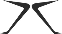Fender Scoops (set of 2) Decal / Sticker
