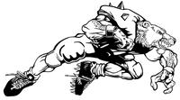 Football Bear Mascot Decal / Sticker 11