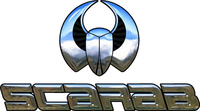 Simulated 3D Chrome Scarab Decal / Sticker 03