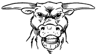 Bull Mascot Decal / Sticker 2
