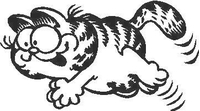 Garfield Decal / Sticker 01