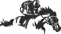 Jockey On Horse Decal / Sticker