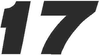17 Race Number Decal / Sticker SOLID