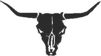 Bull Skull Longhorn Decal / Sticker 06