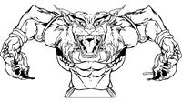Football Bobcat Mascot Decal / Sticker 04