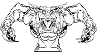 Football Bobcat Mascot Decal / Sticker 04