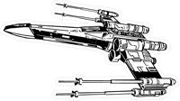 X-Wing Starfighter Decal / Sticker 01