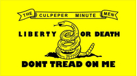 Culpeper Minutemen Flag Don't Tread on Me Decal / Sticker 03