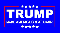TRUMP Flag Decal / Sticker 01