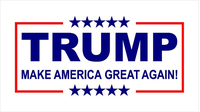 TRUMP Flag Decal / Sticker 02