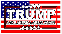 TRUMP American Flag Decal / Sticker 05