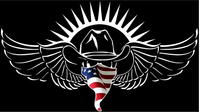 American Flag Bandana VOLBEAT Decal / Sticker 15