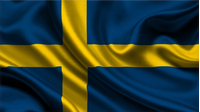 Sweden Flag Decal / Sticker 04