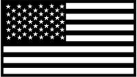 Black and White American Flag Decal / Sticker 54