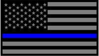 Thin Blue Line American Flag Decal / Sticker 57