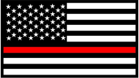Thin Red Line American Flag Decal / Sticker 58