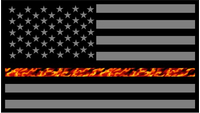 Thin Red Line True Fire American Flag Decal / Sticker 62