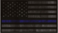 Distressed Thin Blue Line American Flag Decal / Sticker 65
