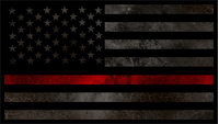 Distressed Thin Red Line American Flag Decal / Sticker 67