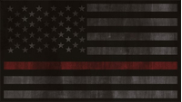 Distressed Thin Red Line American Flag Decal / Sticker 68