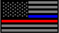 Thin Blue/Red Line American Flag Decal / Sticker 78