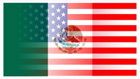 American Mexican Flag Decal / Sticker 04