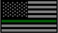 Thin Green Line American Flag Decal / Sticker 84