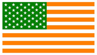 American Irish Flag Decal / Sticker 03