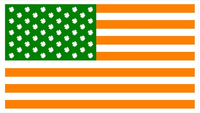 American Irish Flag Decal / Sticker 04