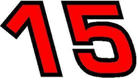 15 Race Number 2 Color Euromode Bold Font Decal / Sticker