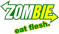 ' Zombie Eat Flesh Decal / Sticker Subway Style