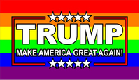 TRUMP LGBT Flag Decal / Sticker 07