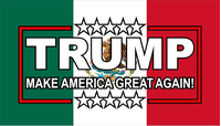TRUMP Mexian Flag Decal / Sticker 08