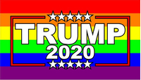 TRUMP 2020 LGBT Flag Decal / Sticker 13