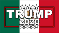 TRUMP 2020 Mexian Flag Decal / Sticker 14
