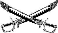 Generals Crossed Swords Mascot Decal / Sticker