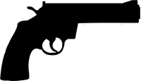 Smith and Wesson Revolver Decal / Sticker