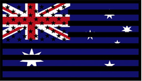 American Australian Flag Decal / Sticker 01