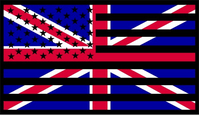 American United Kingdom Flag Decal / Sticker 01