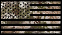 Camouflage American Flag Decal / Sticker 01