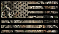 Camouflage American Flag Decal / Sticker 02
